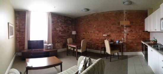 Quest Launceston: Panorama Of Living Room (1 Bedroom Apt) Part 42