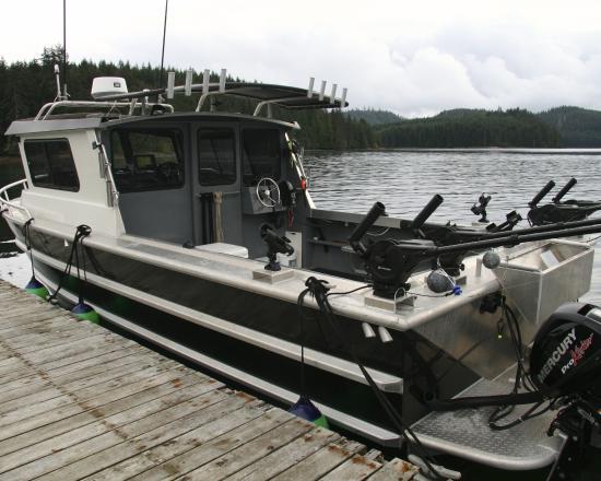Knottygirl one of our custom welded aluminum boats for Custom aluminum fishing boats