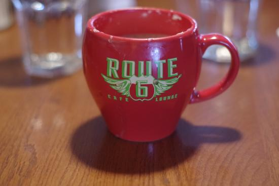 Route 6 Cafe: Coffee cup