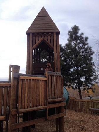 Dragon Hollow Play Area: The small tower led by many fun lil mazes.