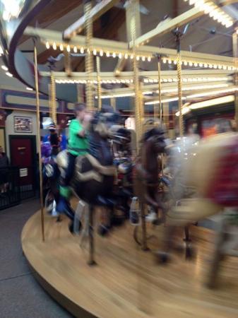 Dragon Hollow Play Area: The carousel.