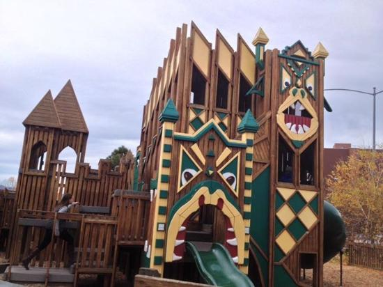 Dragon Hollow Play Area: The partial of the playground.