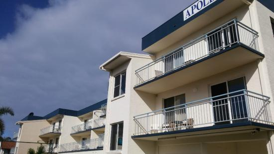 Apollo Luxury Apartments: All apartments have a back balcony