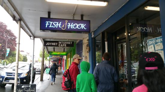 Fish hook: The sign