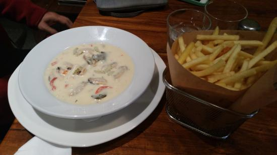 Fish hook: Seafood Chowder