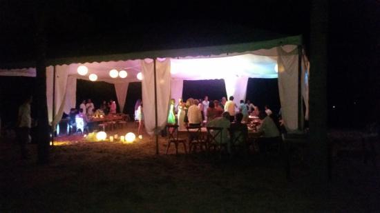 Playa Blanca, Mexico: Wedding marquee