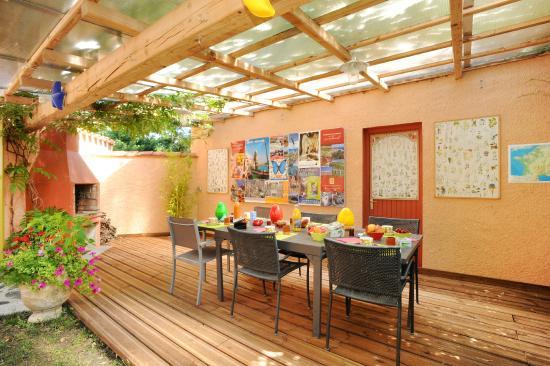 Canohes, Frankrike: le coin du petit déjeuenr