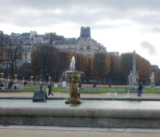 Paris, France: zicht op de vijver