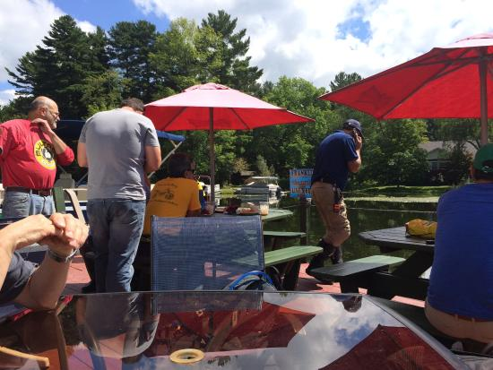 Canaan, NY: Outdoor dining - waterside
