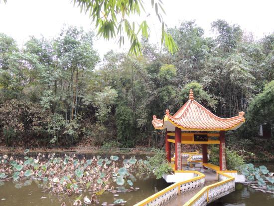 Ganzhou, Kina: pond and pavilion