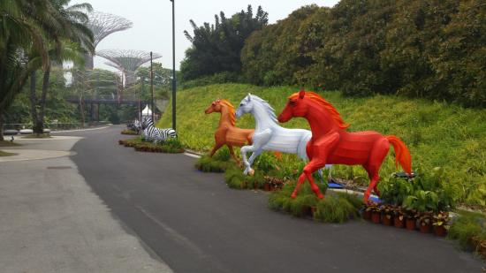 Garden By The Bay Baby horses statue - picture of gardensthe bay, singapore - tripadvisor