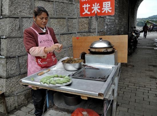 Ganzhou, Kina: local snack food stall