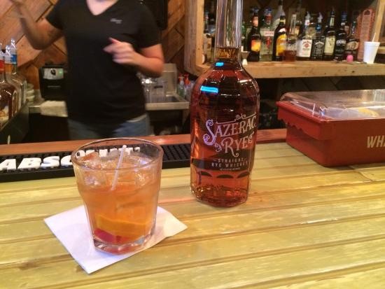 Saint Martinville, LA: Kat makes the best Sazerac old fashioned ever!