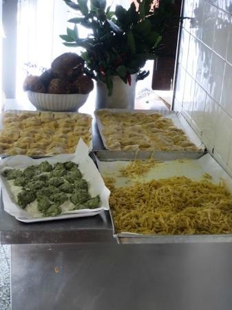Vicchio, İtalya: pasta