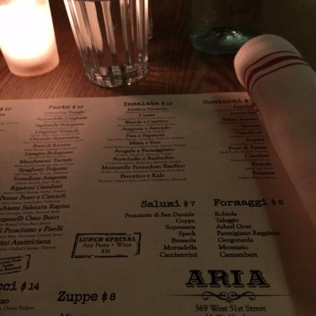 Table Picture Of Aria Hells Kitchen New York City