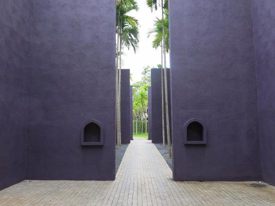 Concrete architecture in the main entrance