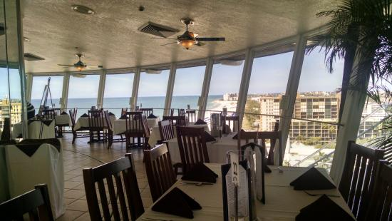 Restaurant interior and view picture of spinners rooftop