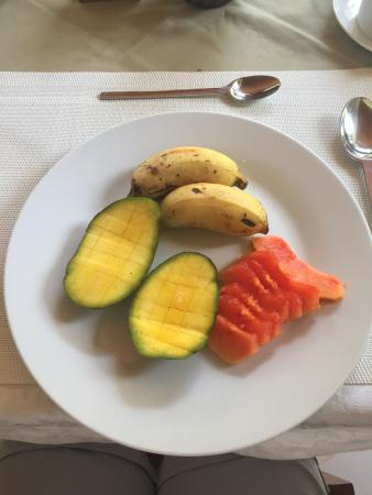 Villa Rafia Guesthouse : Assiette du petit-déjeuner