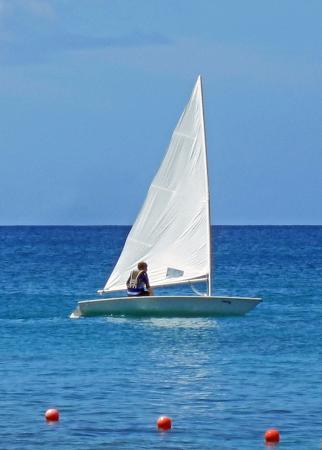 Holetown, Barbados: Laser Sailing