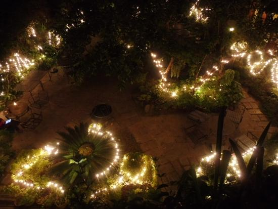 Nirvana Garden Hotel: Diwali lights in the garden