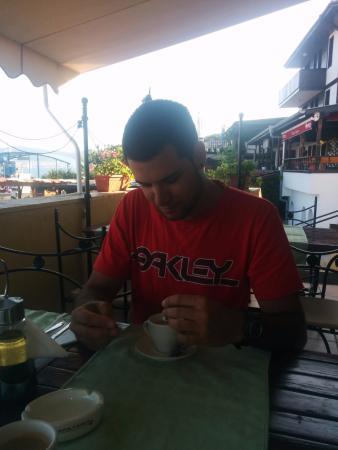 Hotel Stankoff: El cafe con crepes
