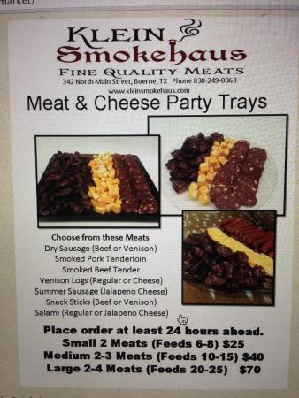 Klein Smokehaus: Meat Trays
