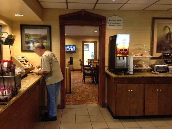 One side of breakfast area