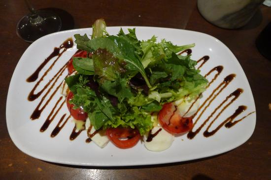BRIO Tuscan Grille: Caprese salad (mozzarella and tomatoes)