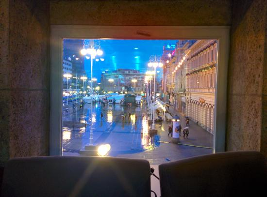Johann Franck Restaurant: the view from our table