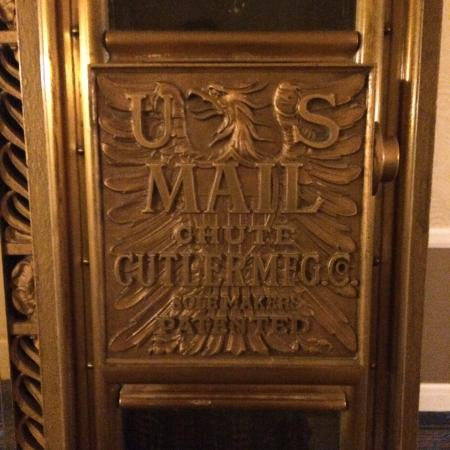 Monaco Baltimore, a Kimpton Hotel: Detail of the 1906 mail drop in the hailways