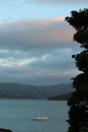 Akaroa on the Beach: View from Penthouse room of Akaroa Harbour