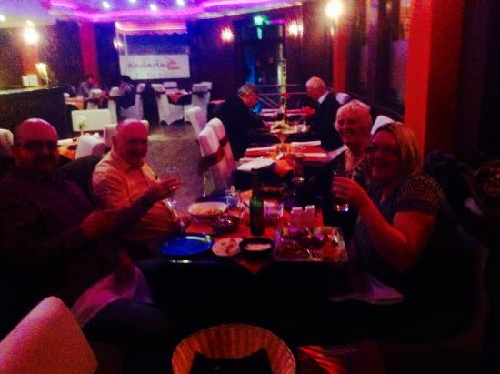 Sahaba's Indo-Asian & Grill Cuisine: Having a great meal with our son and daughter in law in Sahabas Asian Restaurant!