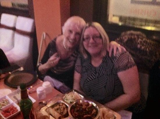 Sahaba's Indo-Asian & Grill Cuisine: My daughter in law and myself enjoying a superb meal in Sahabas Asian Restaurant!