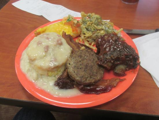 Golden Corral Breakfast plate with ribs on the side! & Breakfast plate with ribs on the side! - Picture of Golden Corral ...