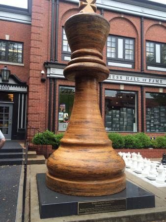 World's largest chess piece - Picture of World Chess Hall ...