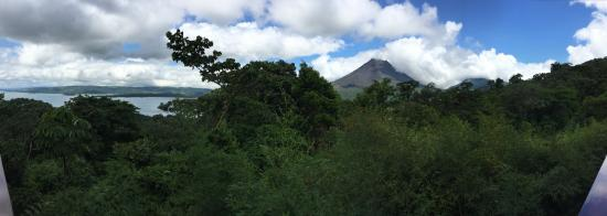 Arenal Volcano National Park, Costa Rica: Panoramic - Arenal Volcano and Lake Arenal