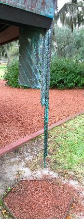 Auldbrass Plantation: Copper rain catcher