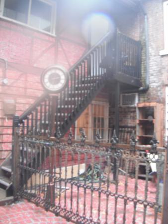 Martello Alley: restored Antique fence