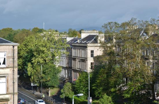 The Heritage Hotel: View from room towards Botanical Gardens