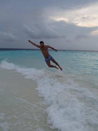 Guraidhoo: At Sand bank/snorkiling