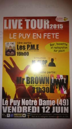 Le Puy-Notre-Dame, Francia: La fete de la musique