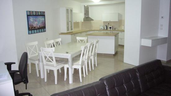 Windows of Jerusalem Vacation Apartments: living and kitchen
