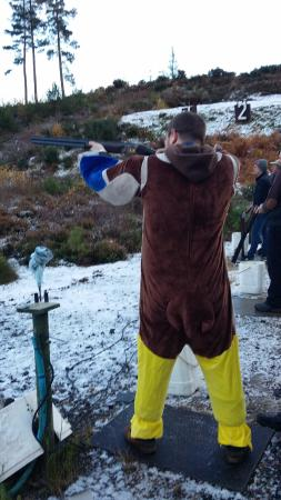 Cawdor Clay Pigeon Club: the stag (keir Beaton ) missed another one