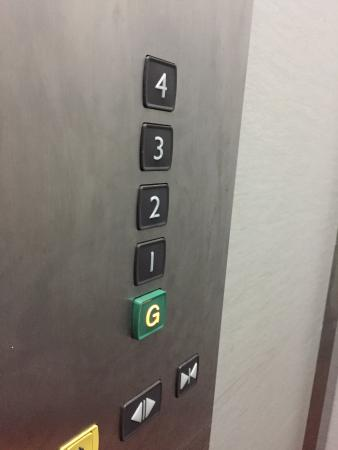 "Hotel Hallmark Inn: I liked how the ""G"" was easy to find in the elevator"