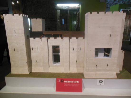 Colchester Castle Museum: mini castle.