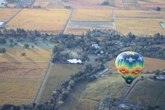 Napa Valley Drifters: Balloon over Napa Valley I