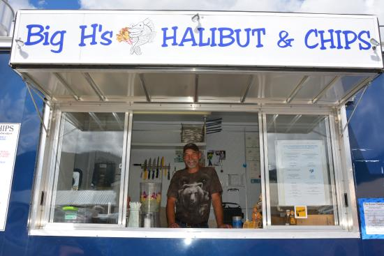 Big H's Fish and Chips: The Big H Himself…..thanks for an amazing lunch Harold