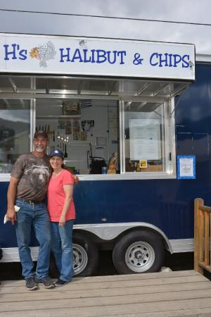 Big H's Fish and Chips : Dianne and Harold