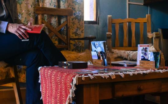 Hosteria Lago Viedma: Área de descanso...
