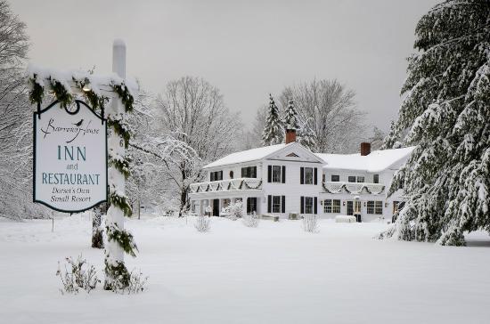 Dorset, VT: Snow-covered